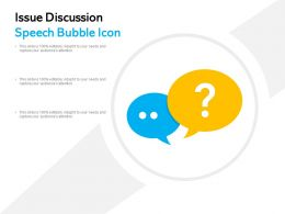 Issue Discussion Speech Bubble Icon