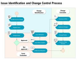 Issue Identification And Change Control Process