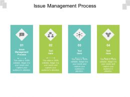 Issue Management Process Ppt Powerpoint Presentation Pictures Influencers Cpb