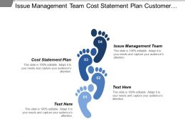 Issue Management Team Cost Statement Plan Customer Competitive
