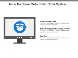 Issue Purchase Order Enter Order System Processing Activities