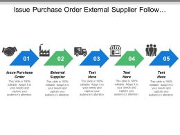 Issue Purchase Order External Supplier Follow Supplier Processing Activities