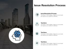 Issue Resolution Process Ppt Powerpoint Presentation Icon Information Cpb