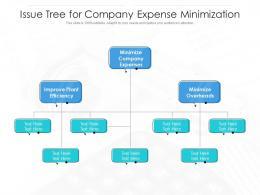 Issue Tree For Company Expense Minimization