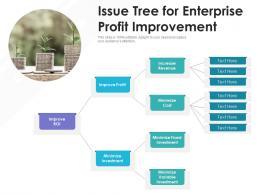 Issue Tree For Enterprise Profit Improvement