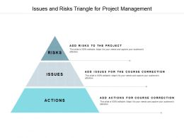 Issues And Risks Triangle For Project Management