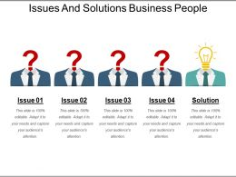 Issues And Solutions Business People