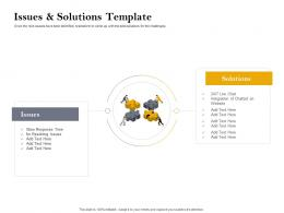 Issues And Solutions Template Customer Retention And Engagement Planning Ppt Information