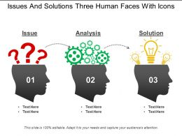 Issues And Solutions Three Human Faces With Icons