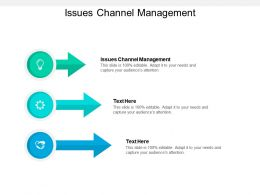 Issues Channel Management Ppt Powerpoint Presentation Show Layout Cpb
