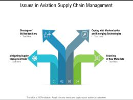 Issues In Aviation Supply Chain Management