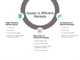 Issues In Efficient Markets Technical Analysis Ppt Powerpoint Presentation Icon