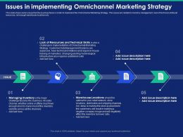 Issues In Implementing Omnichannel Marketing Strategy Turnover Ratio Powerpoint Presentation Icon