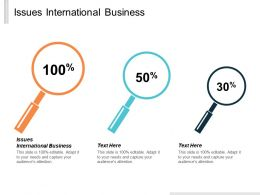 Issues International Business Ppt Powerpoint Presentation Inspiration Show Cpb