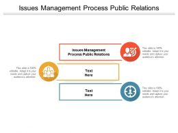 Issues Management Process Public Relations Ppt Powerpoint Ideas Samples Cpb