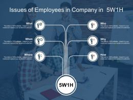 Issues Of Employees In Company In 5w1h