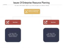 Issues Of Enterprise Resource Planning Ppt Powerpoint Presentation Summary Background Cpb