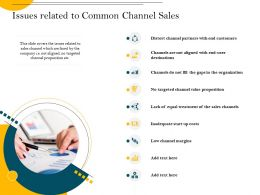 Issues Related To Common Channel Sales Channel Value Ppt Powerpoint Presentation Model Elements
