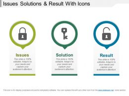 Issues Solutions And Result With Icons