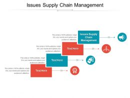 Issues Supply Chain Management Ppt Powerpoint Presentation Infographics Clipart Cpb