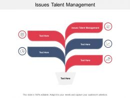 Issues Talent Management Ppt Powerpoint Presentation Professional Clipart Cpb