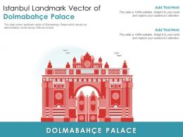 Istanbul Landmark Vector Of Dolmabahce Palace Powerpoint Presentation PPT Template