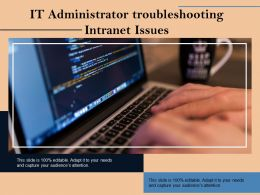 IT Administrator Troubleshooting Intranet Issues