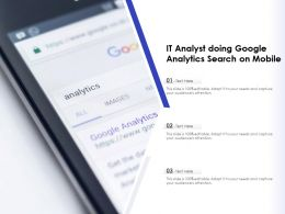 IT Analyst Doing Google Analytics Search On Mobile