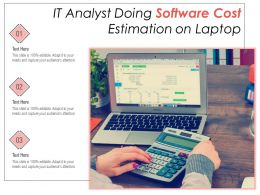 IT Analyst Doing Software Cost Estimation On Laptop