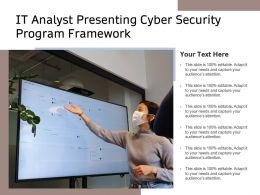 IT Analyst Presenting Cyber Security Program Framework