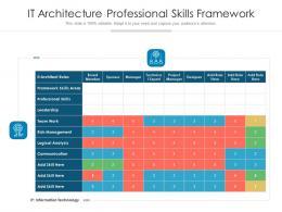 IT Architecture Professional Skills Framework