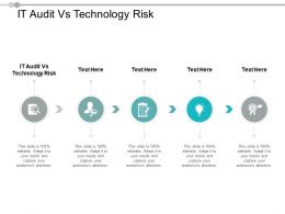IT Audit Vs Technology Risk Ppt Powerpoint Presentation Slides Model Cpb