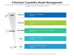 IT Business Capability Model Management