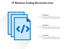 IT Business Coding Document Icon