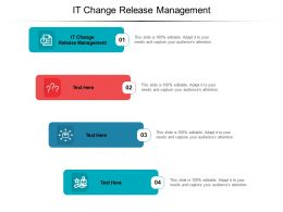 IT Change Release Management Ppt Powerpoint Presentation Icon Slide Cpb