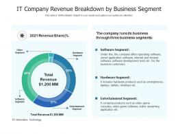 IT Company Revenue Breakdown By Business Segment