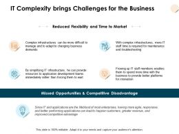 IT Complexity Brings Challenges For The Business Ppt Powerpoint Presentation Ideas Guide