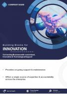 IT Consulting And Services Two Page Brochure Template