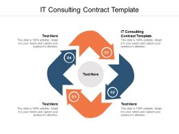 IT Consulting Contract Template Ppt Powerpoint Presentation Summary Cpb