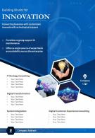 IT Consulting Firms Two Page Brochure Template