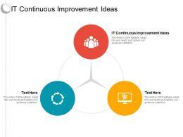 IT Continuous Improvement Ideas Ppt Powerpoint Presentation Ideas Styles Cpb
