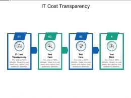 IT Cost Transparency Ppt Powerpoint Presentation Model Introduction Cpb