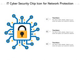 IT Cyber Security Chip Icon For Network Protection