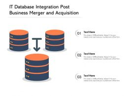 IT Database Integration Post Business Merger And Acquisition
