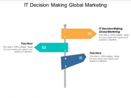 IT Decision Making Global Marketing Ppt Powerpoint Presentation Professional Topics Cpb