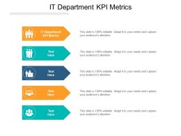 IT Department KPI Metrics Ppt Powerpoint Presentation Ideas Visual Aids Cpb