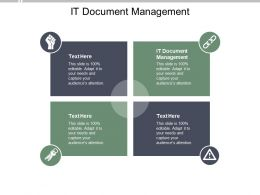 IT Document Management Ppt Powerpoint Presentation Styles Mockup Cpb