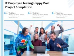 It Employee Feeling Happy Post Project Completion