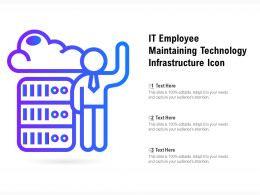 IT Employee Maintaining Technology Infrastructure Icon