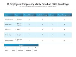 IT Employees Competency Matrix Based On Skills Knowledge